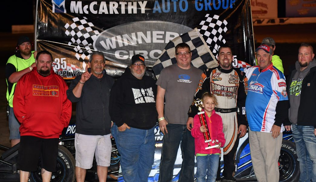 Fuqua, Eaton, Scott all USRA Winners on Walker Dozing Night at I-35 Speedway!!