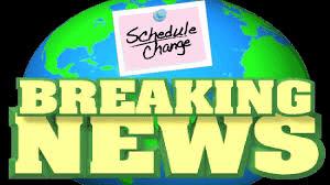 Schedule Update April 14