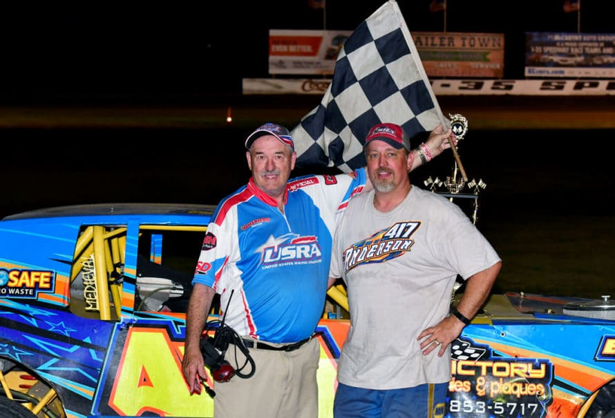 Elliott, Anderson and Noll Steady a Wild Night on Trailer Town Night at the Races