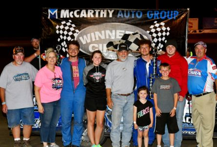 Johnson Races To His First 2018 USRA Modified Feature Victory, As Harris, Anderson, And Ainsworth Race To Winner's Circle During Brown Construction Night At The Races At I-35 Speedway