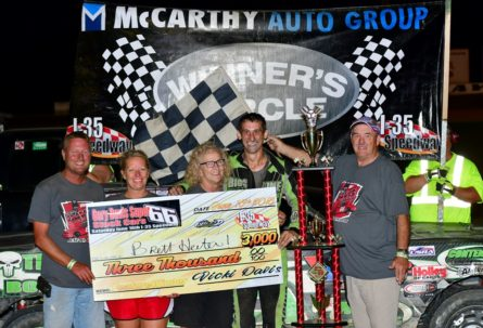 Brett Heeter Runs Away with the Gary Davis Super 66 Stock Car Race; Shaw, Royalty, Mercer, Wells and Willard also Find Victory Lane at I-35 Speedway