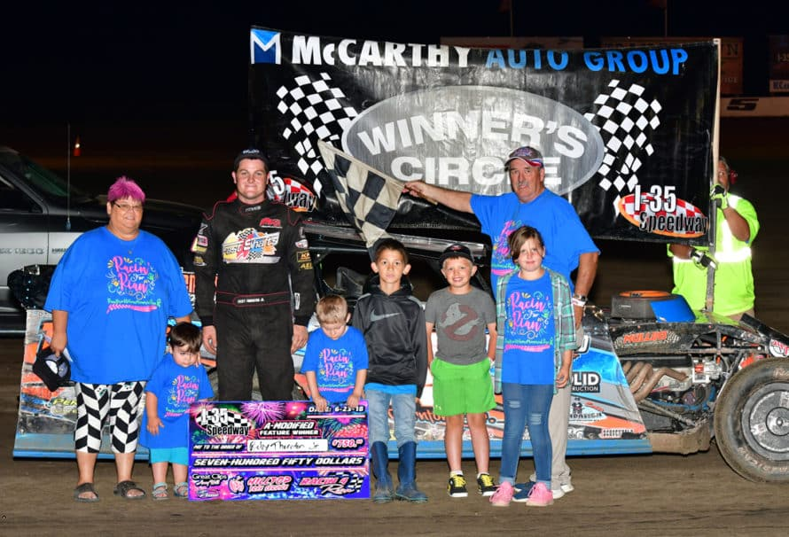 Thornton Jr. Doubles Up at I-35 Speedway; Heeter and Mercer Also Roll into Victory Lane on Racin' For Rian Night