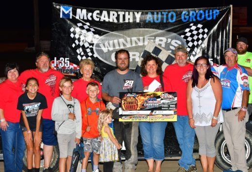Shaw, Heeter and Smith Race to Victory on McCarthy Autogroup Kid's Night at the Races